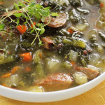 Speedy Sausage & Kale Soup- Only 5 fast ingredients!